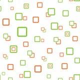 Quadratische nahtlose Beschaffenheitsgrünorange Lizenzfreie Stockfotografie