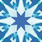 Quadratische nahtlose Fliese in den Schatten des Blaus Kälte tonte abstrakte Polierbeschaffenheit Textildruck-Sternchen-Vereinbar Stockbild