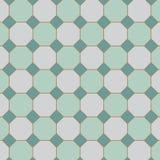 quadratische Neigung mit Achteck deckt Muster im Vektor mit Ziegeln Stockfoto