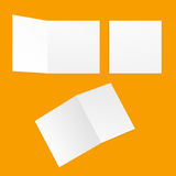 Quadratische Postkarten der Schablone stockfotos