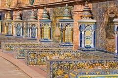 Quadratische Querneigungen Sevilla-Spanien Lizenzfreie Stockbilder