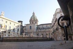 Quadratische Schande in Palermo Stockbild