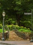 Quadratische Schritte des Parks Stockbild