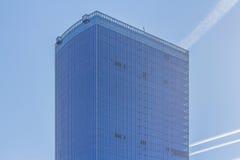 Quadratische Seite der Scheibe im Geschäftszentrum Lizenzfreies Stockbild