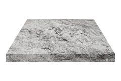 quadratische Steinplatte lokalisiert auf Weiß Stockfotografie