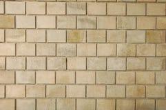 Quadratische Steinwand Stockbild
