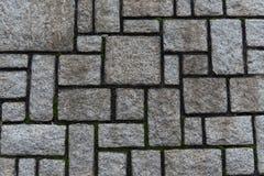 Quadratische Steinwand Stockbilder