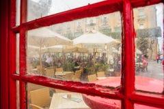 Quadratische Szene in Valletta Stockbild