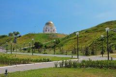Quadratische und denkwürdige Zeichen ` Annahme von Islam ` Bulgar, Russland lizenzfreies stockfoto