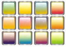 Quadratische varicoloured Elemente der Auslegung stock abbildung
