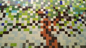 Quadratische Wand lizenzfreies stockfoto