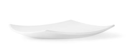 Quadratische weiße Platte Lizenzfreie Stockfotografie