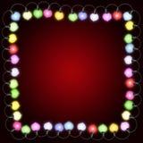 Quadratische Weihnachtskarte mit Leuchten Lizenzfreies Stockfoto