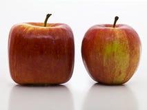 Quadratischer Apfel Lizenzfreies Stockfoto