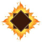 Quadratischer Aquarellvektor-Feuerrahmen Lizenzfreie Stockfotos
