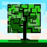 Quadratischer Baum Lizenzfreies Stockbild