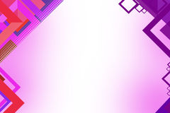 quadratischer geometrischer Zusammenfassungshintergrund der Form 3d Stockfotografie