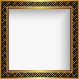 Quadratischer Goldrahmen mit dekorativer Grenze Lizenzfreies Stockbild