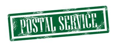Quadratischer grungy Stempel des Postdiensts Lizenzfreie Abbildung