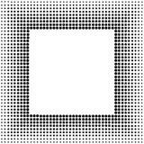 Quadratischer Halbtonrahmen Lizenzfreie Stockfotos