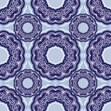 Quadratischer Hintergrund - dekoratives nahtloses Muster Stockbild