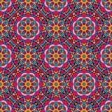 Quadratischer Hintergrund - dekoratives nahtloses Muster Lizenzfreies Stockfoto