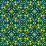 Quadratischer Hintergrund - dekoratives nahtloses Muster im Grün Lizenzfreies Stockfoto