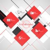 Quadratischer Hintergrund für Text Vektorgeschäft Lizenzfreie Stockfotos