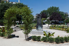 Quadratischer Jean XXIII Paris Frankreich Stockfotos