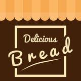 Quadratischer köstlicher Brot-Hintergrund-Vektor Lizenzfreie Stockfotos
