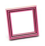 Quadratischer klassischer leerer rosafarbener Fotorahmen lokalisiert Stockfotografie