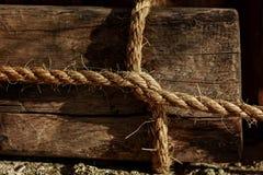 Quadratischer Knoten Whitweißseil Lizenzfreies Stockbild