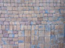 Quadratischer Lehm deckt Muster mit Ziegeln Lizenzfreie Stockfotos