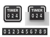 Quadratischer mechanischer Timer des Count-downs Lizenzfreie Stockfotografie