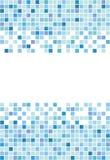 Quadratischer Mosaikmarinehintergrund lizenzfreie abbildung