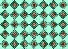 Quadratischer nahtloser Musterhintergrund Lizenzfreie Abbildung
