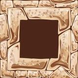 Quadratischer Rahmen auf nahtlosem Steinmuster Stockbild