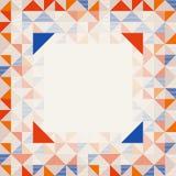 Quadratischer Rahmen in den roten und blauen Farben, abstraktes geometrisches Hintergrundmuster stock abbildung