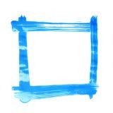 Quadratischer Rahmen gemacht mit Bürstenanschlägen Stockbild