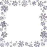 Quadratischer Rahmen gemacht von den verschiedenen Schneeflocken Lizenzfreies Stockbild