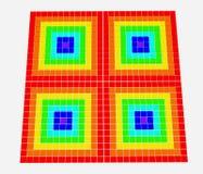 Quadratischer Regenbogen Stockbild