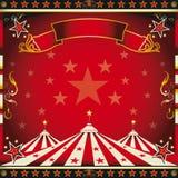 Quadratischer roter Weinlese-Zirkus. Stockbilder