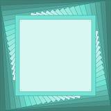 Quadratischer Smaragdrahmen Lizenzfreie Stockfotos