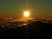 Quadratischer Sun Lizenzfreies Stockbild