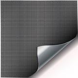 Quadratischer Zellenmetallhintergrund mit gebogener Ecke. Stockbilder