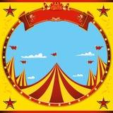 Quadratischer Zirkus des Fliegers schöner Tages stockfotos