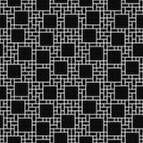 Quadratisches abstraktes geometrisches Design-Fliesen-Schwarzweiss-Muster bezüglich Stockbilder