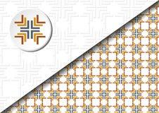 Quadratisches abstraktes Muster Lizenzfreie Stockfotografie