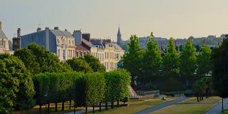 Quadratisches auguste mariette pacha auf einem sonnigen Morgen in Boulogne sur Mer lizenzfreie stockfotos