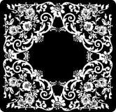 Quadratisches Blumenweißmuster Lizenzfreie Stockfotos